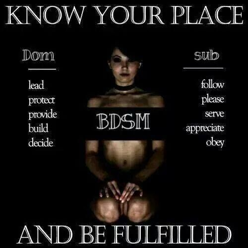Domination and submissive lifestyle