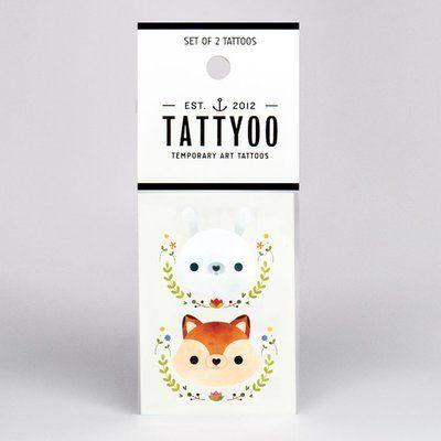 Conejito/ardilla tatuaje temporal (2u.)