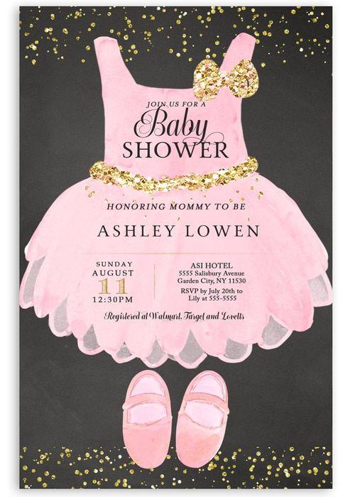 Tutu Baby Shower Invitation Ballerina Invitation 8 Tutu Baby Shower Tutu Baby Shower Invitations Ballerina Baby Shower Invitations Tutu invitations for baby shower