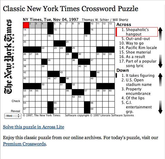 Desk Feature Crossword ~ CALAIZKA