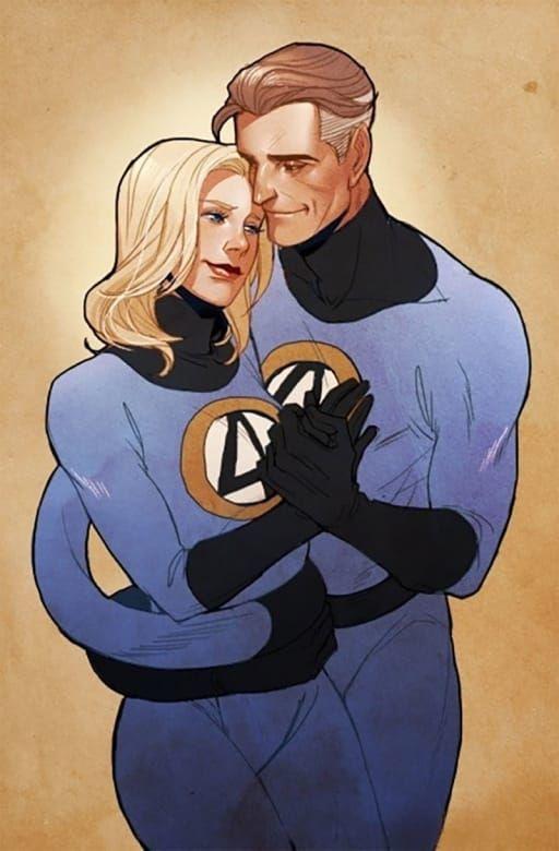 Marvel Comics Romances | Mister fantastic, Invisible woman, Marvel comics