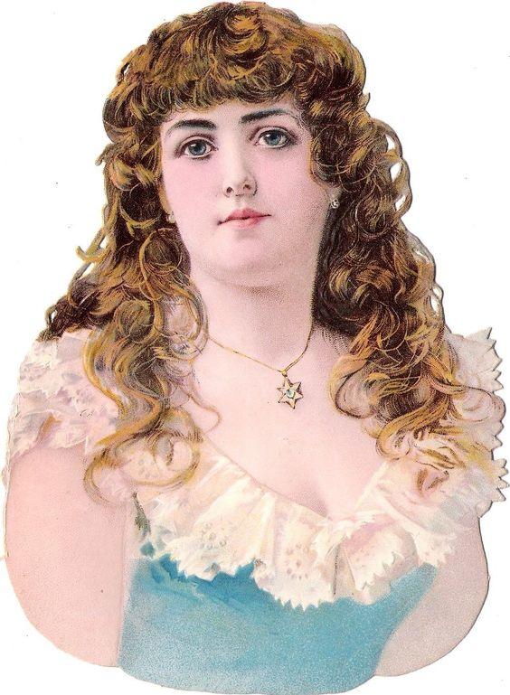Oblaten Glanzbild scrap diecut chromo Dame XL 18cm lady femme woman girl buste in Sammeln & Seltenes, Büro, Papier & Schreiben, Papier & Dokumente | eBay: