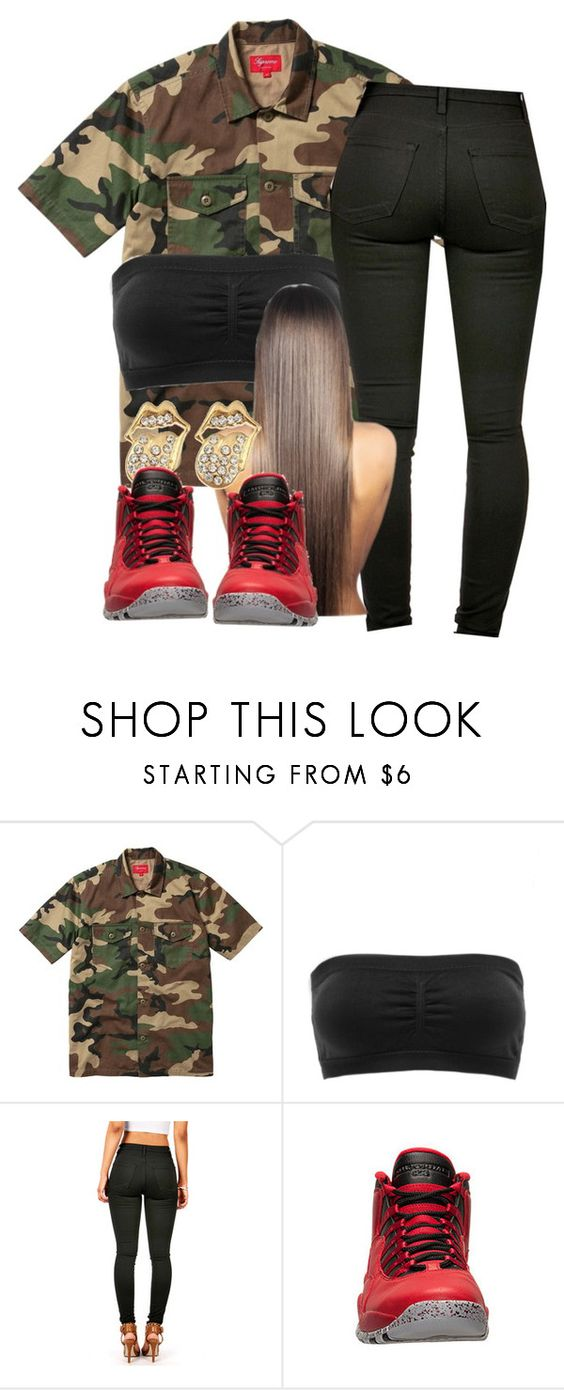 """You betta slay!"" by deasia-still-thugin-honey ❤ liked on Polyvore featuring beauty, Charlotte Russe and Retrò"