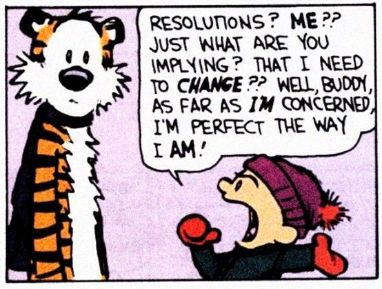 Calvin & Hobbes Resolutions Comic