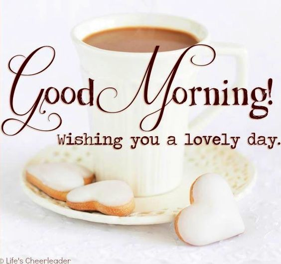 Good morning via www.Facebook.com/LifesCheerleader: