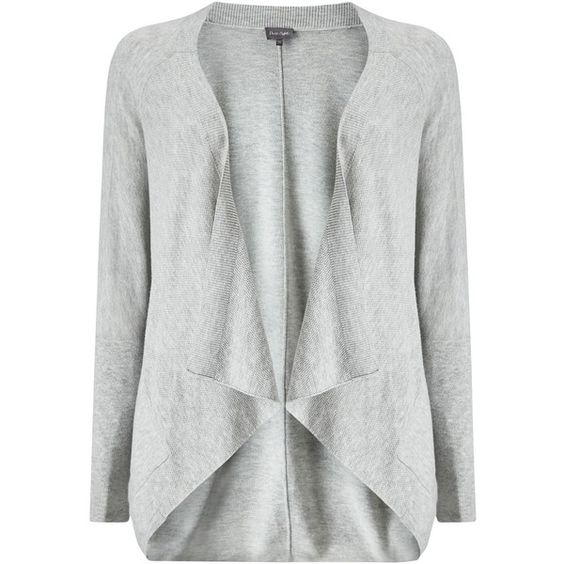 Phase Eight Carys Cardigan, Silver Marl ($92) ❤ liked on Polyvore featuring tops, cardigans, long sleeve drape top, silver top, silver cardigan, draped sleeve top and long sleeve tops