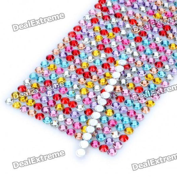 Charming DIY Crystal Sticker for Car/Cell Phone/PSP/Camera - Color Assorted (504 Piece/Sheet)  89 Kč
