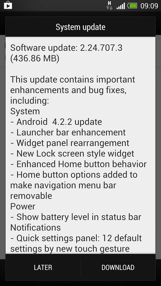 HTC One ศูนย์ไทยอัพเดทเป็น Android 4.2.2 ได้แล้วผ่าน OTA (Wi-Fi)
