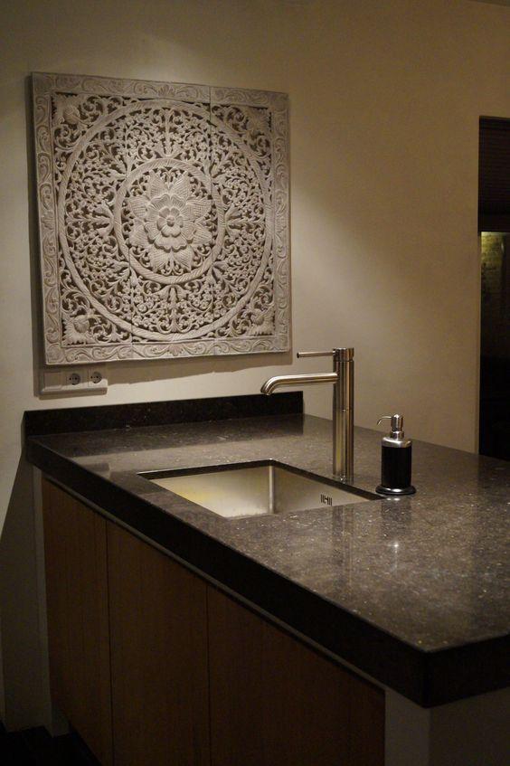 SIMPLY PURE Houten wandpaneel 90x90 cm Soft wit in keuken ...
