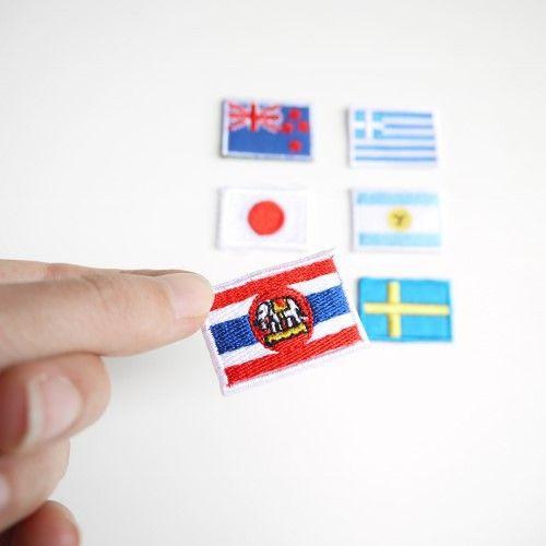 刺しゅうワッペンです。コットン布であればアイロンの熱で接着できます。6ヶ国が各1の6枚セットです。ニュージーランド/ギリシャ/ベルギー/アルゼンチンタイ/日本...|ハンドメイド、手作り、手仕事品の通販・販売・購入ならCreema。