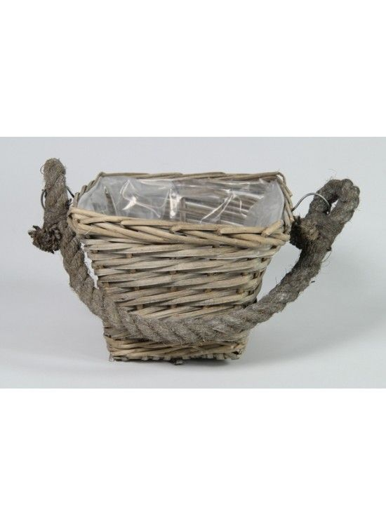 Medium Square Basket With Rope Handles @ rosefields.co.uk