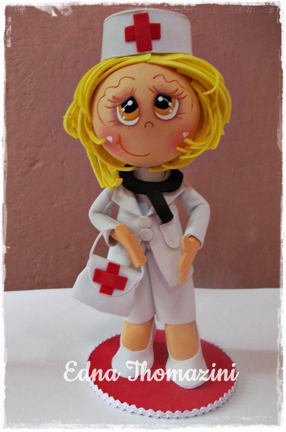 Edna Thomazini ~ Ateli u00ea Edna Thomazini Enfermeiras bonecas de biscuit