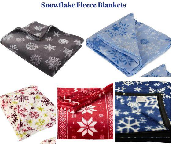 Snowflake Fleece Blankets