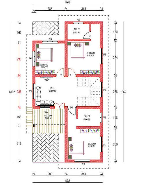 4 Bedroom Box Type Home For 30 Lakhs With Free Plan Free Kerala Home Plans Budget House Plans House Plans My House Plans