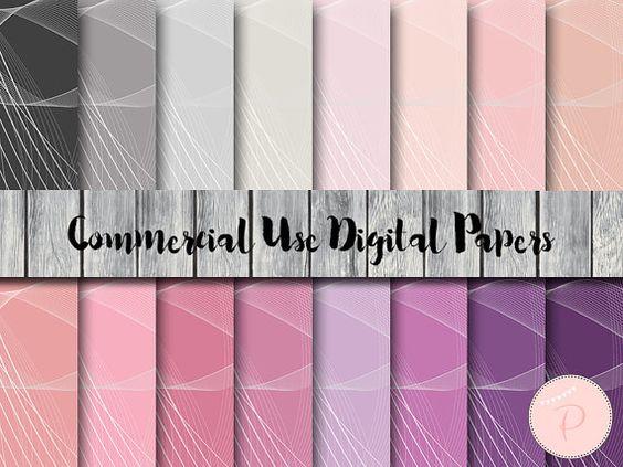 Wave Pattern Digital Papers Pastel Rainbow by MagicalStudio