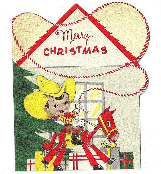 vintage 1950s christmas card