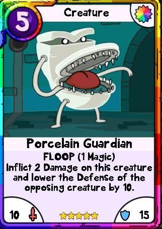 Adventure Time Card Wars  Green Merman  Useless Swamp Lands Card