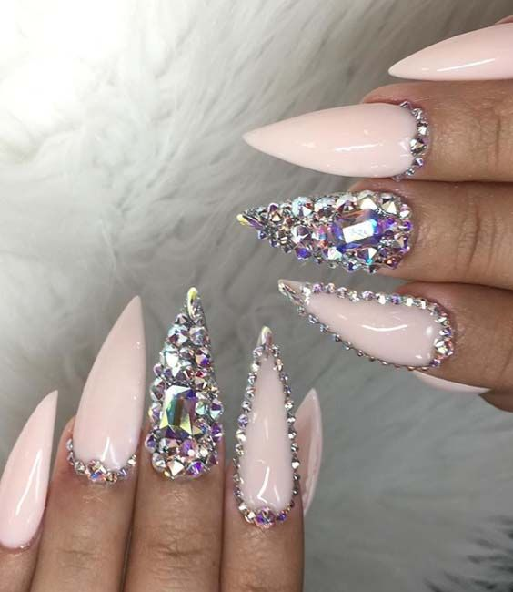 Fresh Almond Shape Baby Pink Nail Designs You Must Try Absurd Styles Baby Pink Nails Pink Nail Designs Long Nail Designs