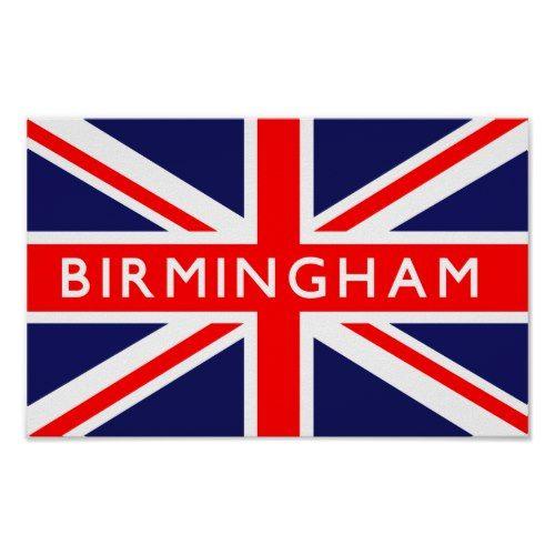 Birmingham Uk Flag Poster Zazzle Com Uk Flag British Empire Flag United Kingdom Flag