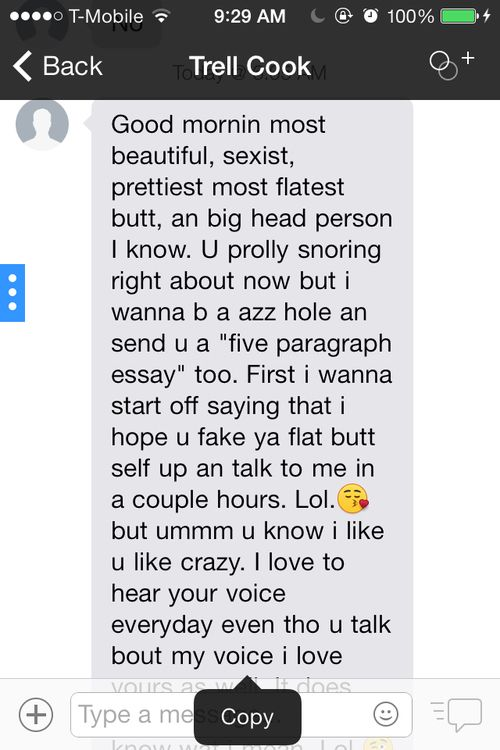paragraph to girl