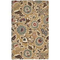 @Overstock - Bring a touch of the garden into your home with the blossoms collection. This floor rug has a beige background and displays stunning panel colors of olive, ivory, light blue and red.http://www.overstock.com/Home-Garden/Handmade-Blossom-Flowers-Beige-Wool-Rug-5-x-8/6054805/product.html?CID=214117 $192.79