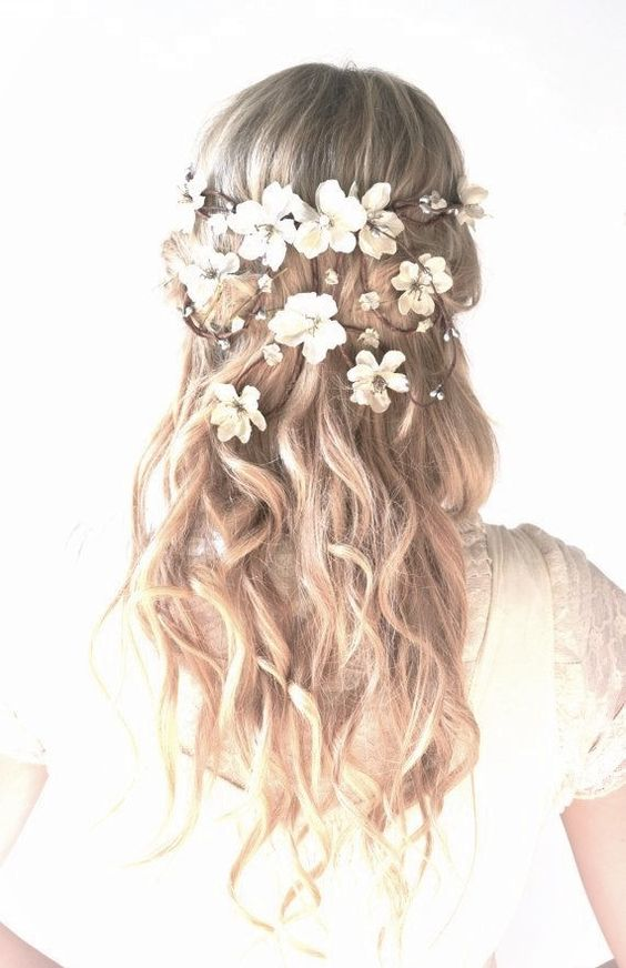 Hair with flower crown