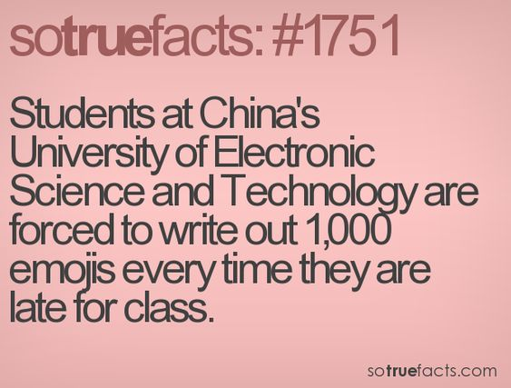 Students at China's University of Electronic Science and Technology are forced to write out 1,000 emojis every time they are late for class.