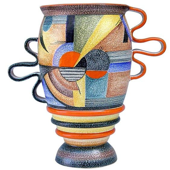 Futurista 900 Ceramic Vase by Mazzotti, 1903 | From a unique collection of antique and modern vases and vessels at https://www.1stdibs.com/furniture/decorative-objects/vases-vessels/