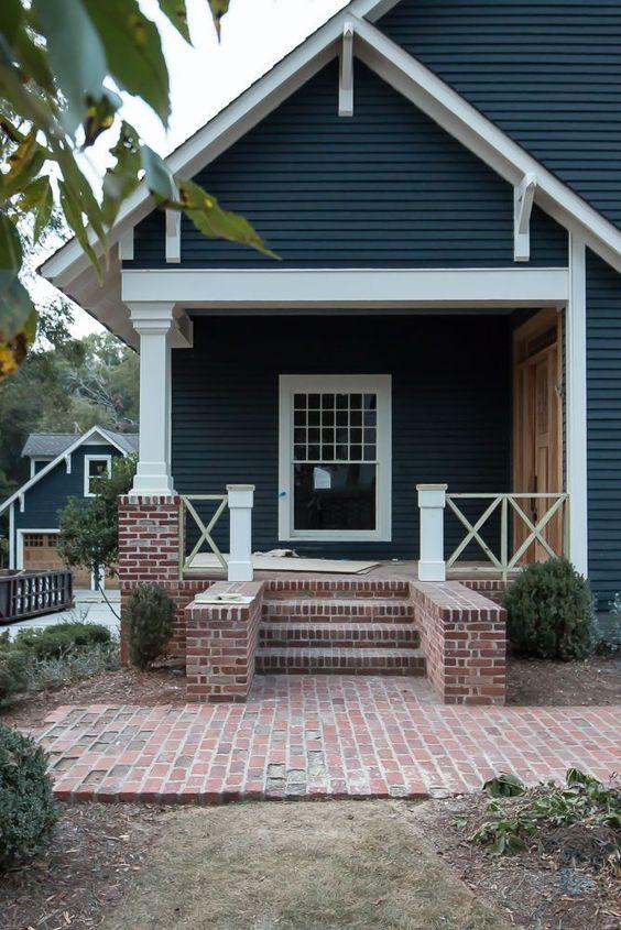 dark blue gray exterior house siding