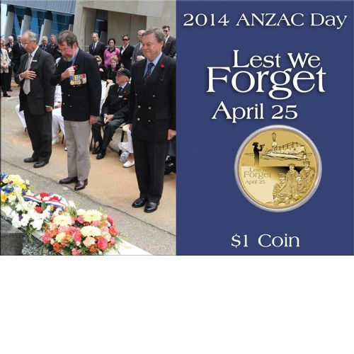 2014 Anzac Day Lest We Forget 25th April 1 Coin The Perth Mint Anzac Day Anzac Cards