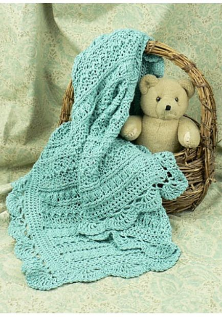 [Free Pattern] Adorable Pattern For Anyone In The Baby Blanket Making Mood