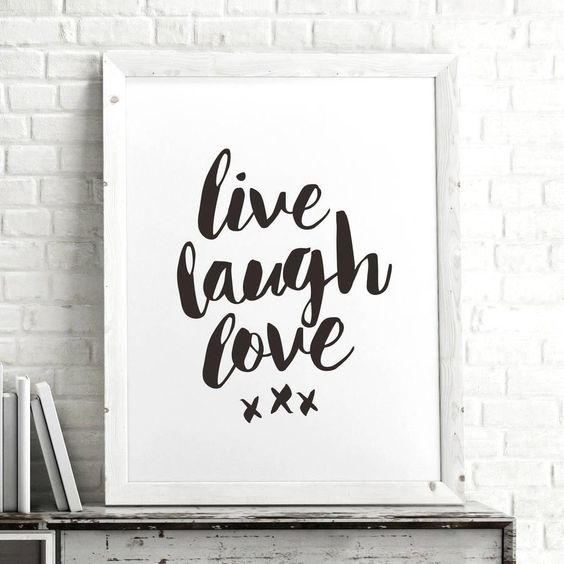 Live Laugh Love http://www.amazon.com/dp/B016MRT604 motivational poster word art print black white inspirational quote motivationmonday quote of the day motivated type swiss wisdom happy fitspo inspirational quote