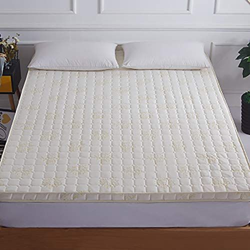 Memory Foam Mattress Quilted Polyester Bed Roll Soft Comfort Luxury Thick Non Slip Elastic Floor Mat Milky 12 Bed In Living Room Mattress Memory Foam Mattress