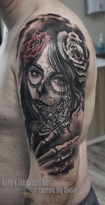 Muerte made by Unio  tattoostudio aero&inkeaters Berlin  www.inkeaters.de instagram-tattoosberlin