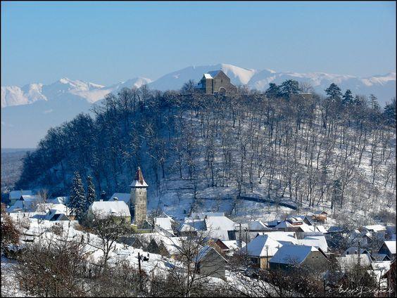 Cisnădioara, Transylvania With its 12th century basilica on a hill