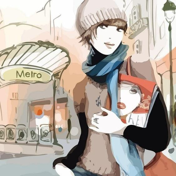 Wallpapers of fashion illustrations by French illustrator Sophie Griotto 1024x1024 (06)