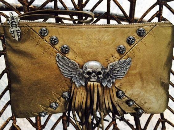 Clutch Purse Purse with Frindges Trendy Bag by LovedaStuff on Etsy
