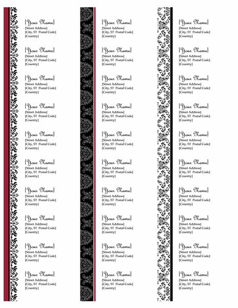 return address labels black and white wedding design works with avery 5160 30 per page. Black Bedroom Furniture Sets. Home Design Ideas