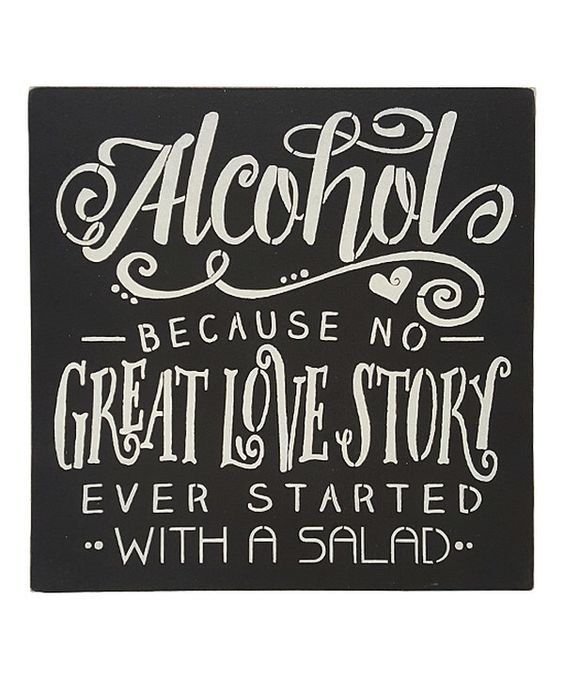 Look at this 'No Great Love Story Ever Started With a Salad' Wall Sign on #zulily today!