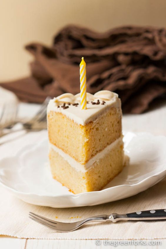 Vegan Birthday Cake Images : Vegan Vanilla Birthday Cake Recipe Yellow birthday ...
