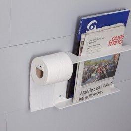 Porte revue et rouleau papier wc mobilier de salle de for Revue salle de bain