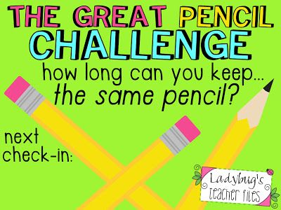 Ladybug's Teacher Files: The Great Pencil Challenge (managing pencils!) LOVE this idea!