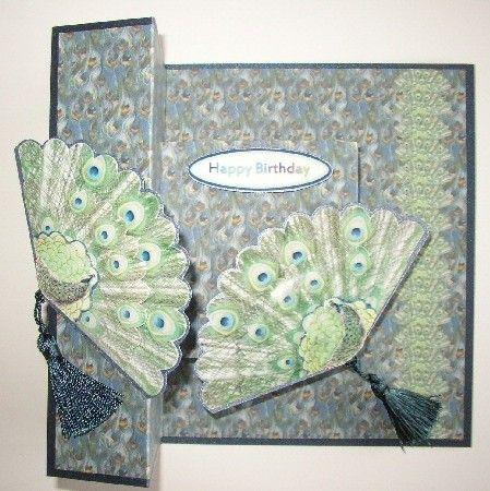 Irregular Tri-Fold Fan Card by Sheila Weaver - Joanna Sheen