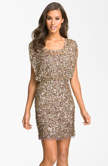 Aidan Mattox Beaded Blouson Dress | Nordstrom