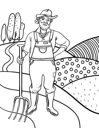 Printable Farmer Coloring Page Free PDF Download At
