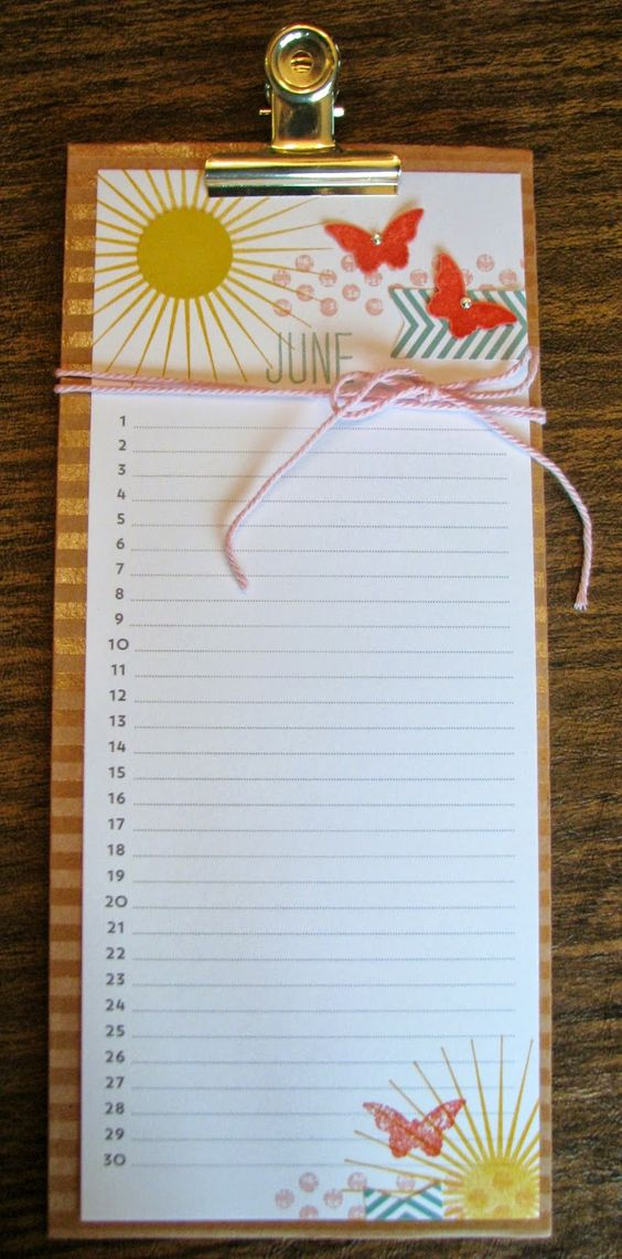 Stampin Up Calendar Ideas : Perpetual birthday calendar stampin up paper crafts