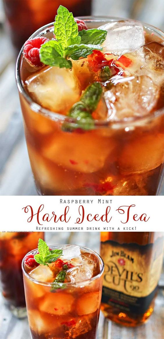 Raspberry mint hard iced tea recipe shot of whiskey for Refreshing alcoholic drink recipes