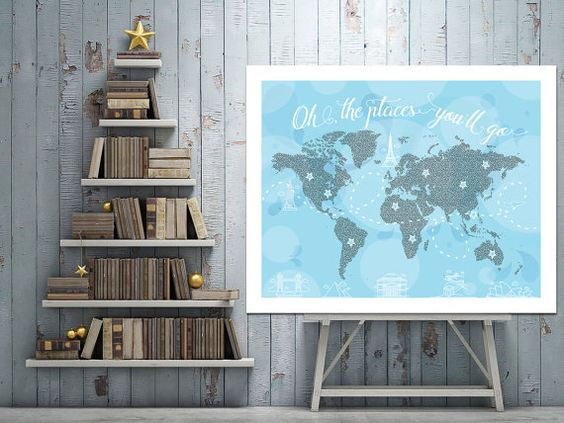 Oh The Places You'll Go Print  Nursery Art by CherryTopPrintables