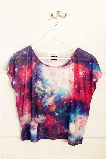 galaxy clothes | shirt: galaxy, clothes, girls - Wheretoget