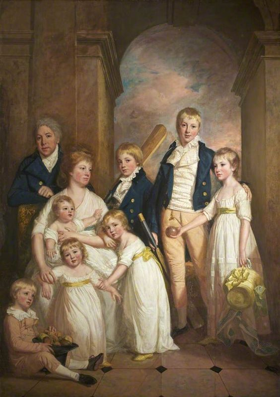 Thomas Tyndall with wife and Children by Thomas Beach c.1800: